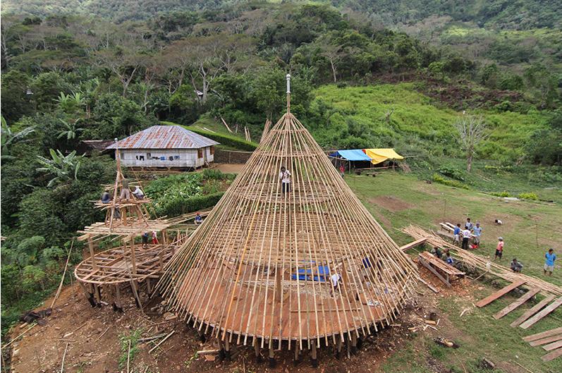 Rumah Adat di Wae Rebo. Mbaru Niang dengan tata ruang yang khas. Sumber:  keluyuran.com
